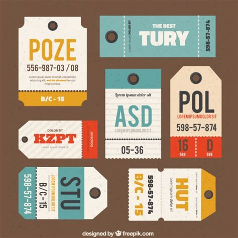 Bagluggage Tag Design luggage tags collection vector free