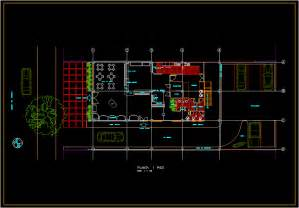 Small Retirement Home Plans Bakery Layout Design In Autocad Drawing Bibliocad