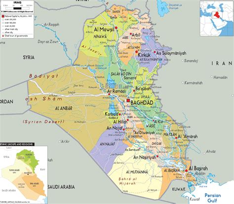 map of baghdad iraq detailed clear large map of iraq ezilon maps