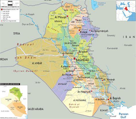 map baghdad iraq detailed political map of iraq ezilon maps