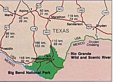 big bend national park texas map modal title
