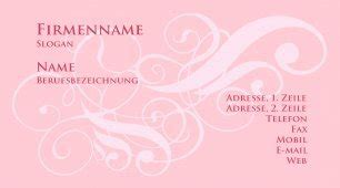 girly business cards templates free girly business card template
