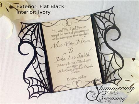 free gate fold wedding invitation templates spider web gate invitation shimmering ceremony