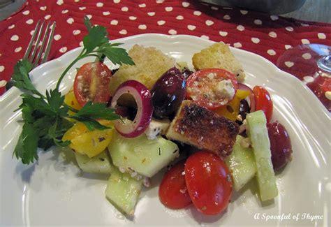 brilliant ina garten greek panzanella ina garten greek a spoonful of thyme greek panzanella