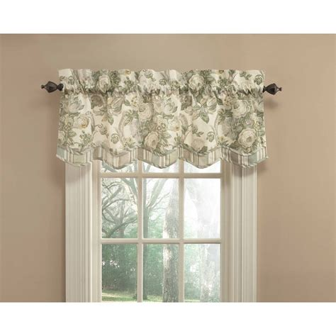 waverly valances shop waverly bling 18 in platinum cotton back tab valance at lowes