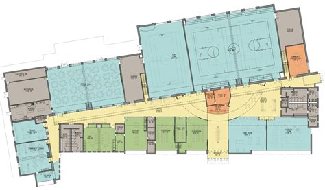 Elevation Floor Plan north potomac community recreation center