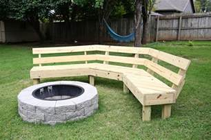 Free Wood Bench Seat Plans by This Diy Wooden Bench Takes The Backyard Fire Pit To The Next Level