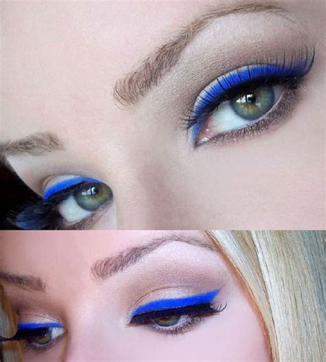 Eyeliner 2 Color top 10 makeup looks with blue eyeliner for every eye color top inspired