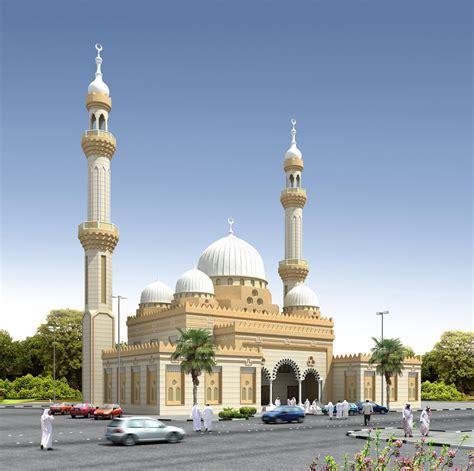 masjid design front 3d front elevation com 3d mosque of muslim dubai project