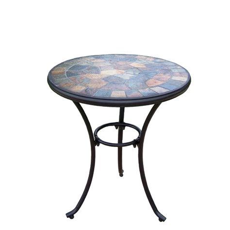 Patio Table Small Oakland Living 24 In Patio Bistro Table 77100 T Cf The Home Depot