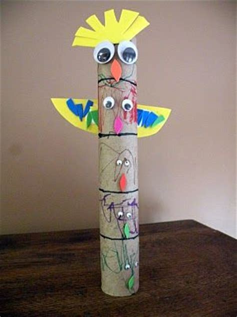 totem pole craft for totems totem poles and totem pole craft on