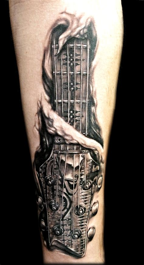simple tattoo of guitar 35 musical guitar tattoo designs for you to try instaloverz