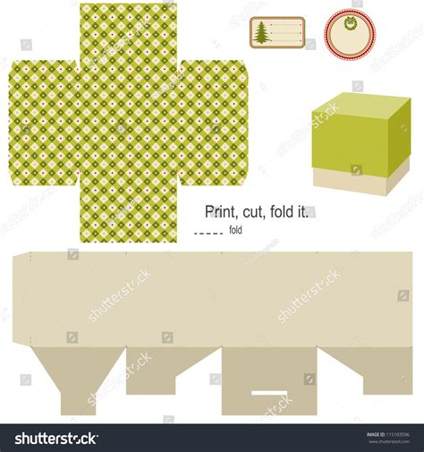 html pattern not empty gift box template isolated on white stock vector 115103596