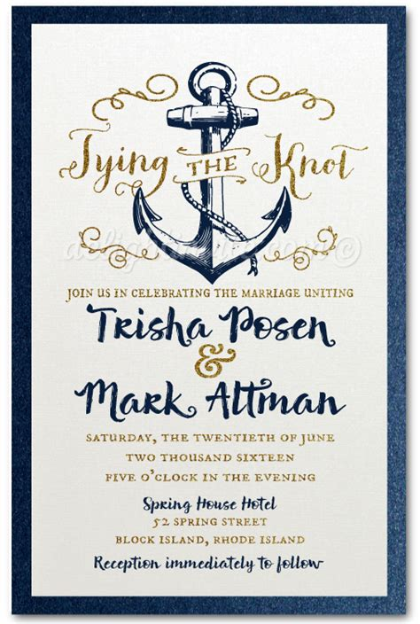 Rustic Nautical Anchor Save The Date Cards Di 5004sd Custom Invitations And Announcements Anchor Wedding Invitation Templates