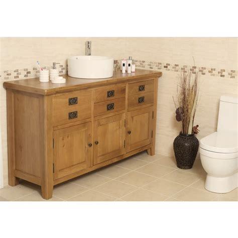 Large Bathroom Vanity Units by Valencia Rustic Oak Large Bathroom Vanity Unit Click Oak
