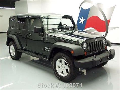 2012 Jeep Wrangler Soft Top Buy Used 2012 Jeep Wrangler Sport Unltd 4x4 Auto Soft Top