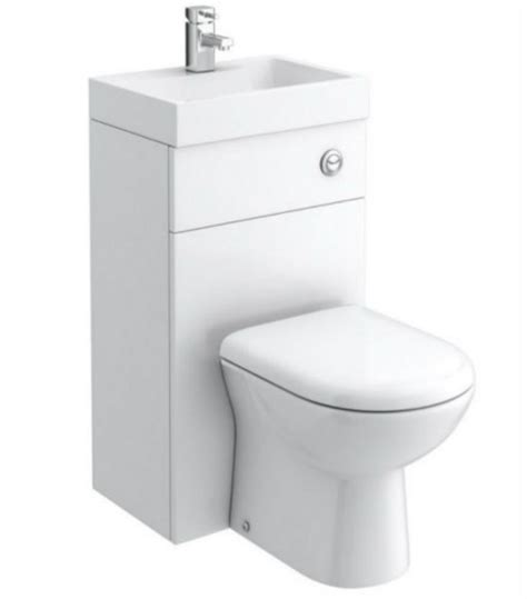 combination wc hand basin unit btw back to wall toilet pan space saving unit ebay