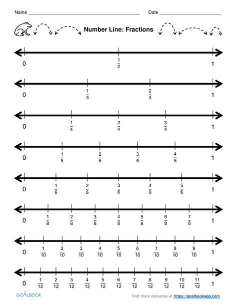printable blank fraction number line blank number line to 20 printable printable number lines