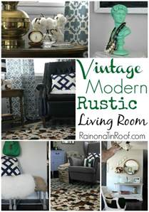 Rustic Antique Decor by Vintage Modern Rustic Living Room
