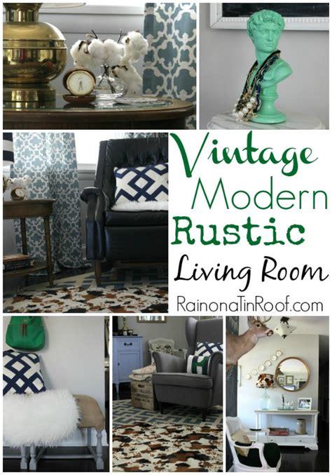 vintage modern decor vintage modern rustic living room