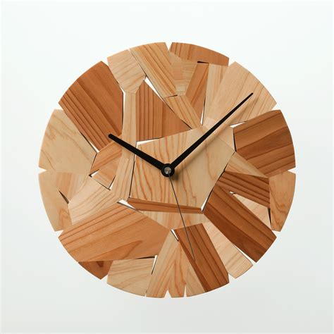 wood clock designs wood chip clock designed by mikiya kobayashi material