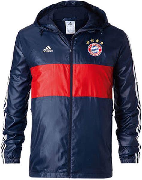 Jaket Adidas Navy revealed bayern m 252 nchen 17 18 windbreaker jacket confirms leaked 17 18 away kit footy headlines