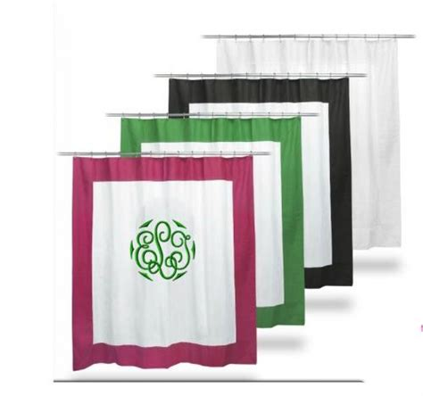 monogrammed bathroom accessories monogrammed shower curtain from the pink monogram