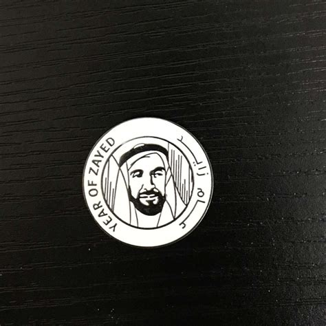 year of advertising marketing agency year of zayed metal and epoxy badges advertising