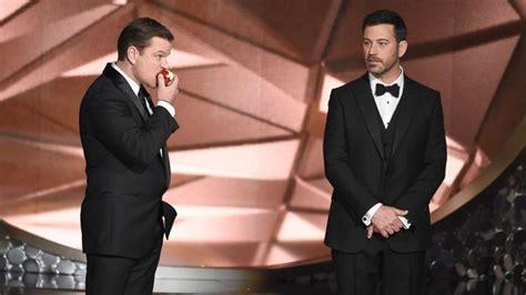 Jimmy Kimmel Mat Damon by Oscars Host Jimmy Kimmel Preparing For Standoff With