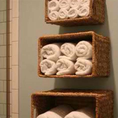 DIY wicker basket shelves.   For the Home   Pinterest   Basket shelves, Shelves and Decor styles