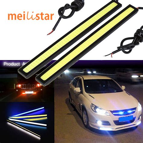 universal led car daytime running daylight drl fog light car styling 1pcs 17cm 20w cob led lights drl daytime