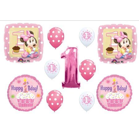 Balon Minnie Mouse Cupcakes baby minnie mouse cupcake 1st birthday