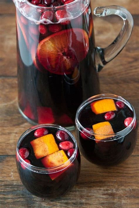 cranberry sangria slurp pinterest