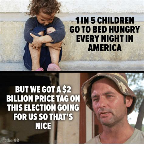 going to bed hungry 11n 5 children go to bed hungry every night in america but