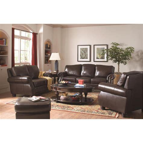 Coaster Dresser by Coaster Furniture 504701 Briscoe Leather Sofa In Tobacco Homeclick
