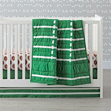baby boy football crib bedding boys crib bedding sets the land of nod