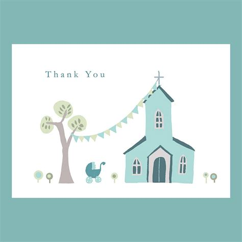 thank you cards personalised christening thank you card by molly moo