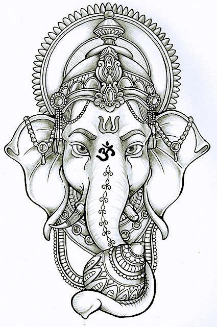 buddha elephant tattoo ganesha lotus drawing search tattoos