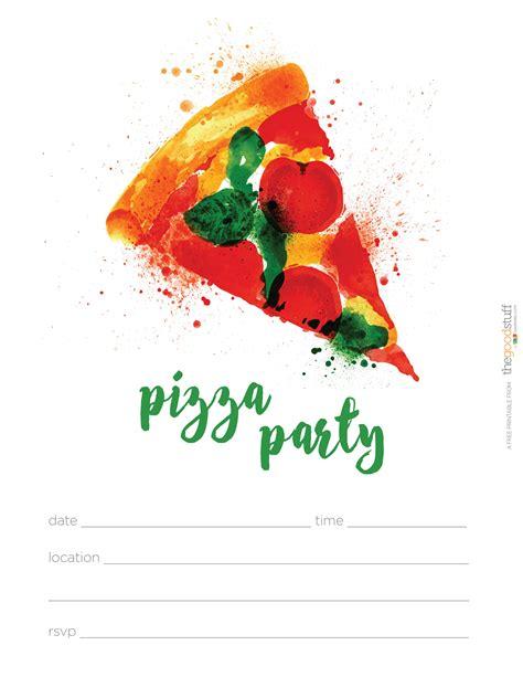 pizza birthday card template pizza invitations invitations templates