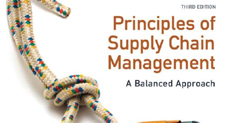 principles of supply chain management a balanced approach books free business ebooks principles of supply chain