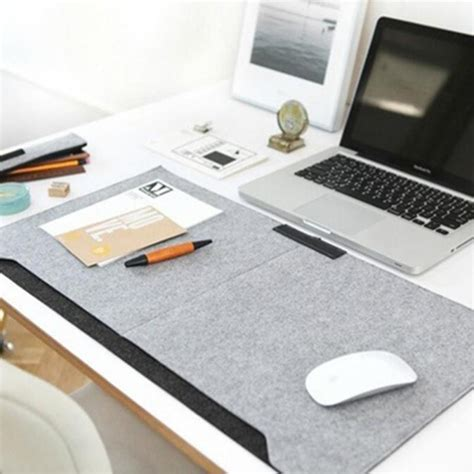 office desk mat mouse pad pen holder wool felt laptop