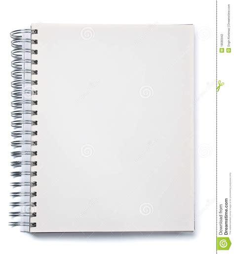 Cuaderno Espiral | cuaderno espiral en blanco foto de archivo imagen de mensaje 18585942