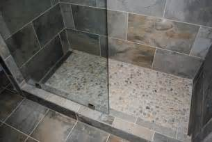 mosaic tile company slate green tile river rock shower floor