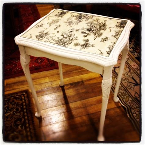 Decoupage Wood Table - easy right decoupage table diy furniture