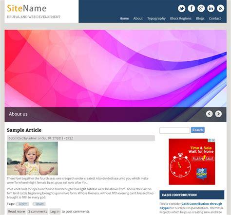 premium responsive free drupal theme freedownload web