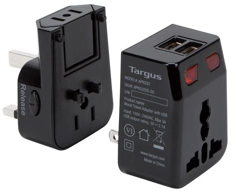 Travel Power world travel power adapter with dual usb charging ports