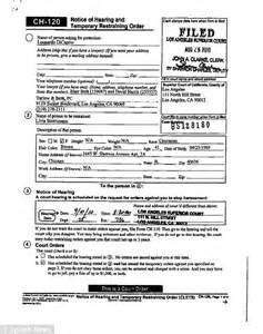 Records Restraining Orders Photo Blank Purchase Order Form Template Images