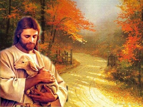 image of christ jesus christ holding a cute lamb god pictures