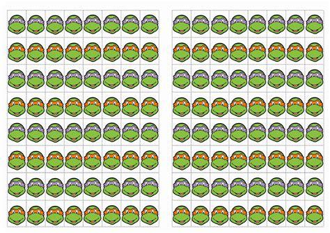 printable tmnt stickers teenage mutant ninja turtles stickers birthday printable