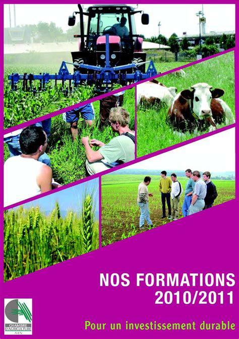 chambre agriculture ain calam 233 o catalogue des formations 2010 2011 chambre d